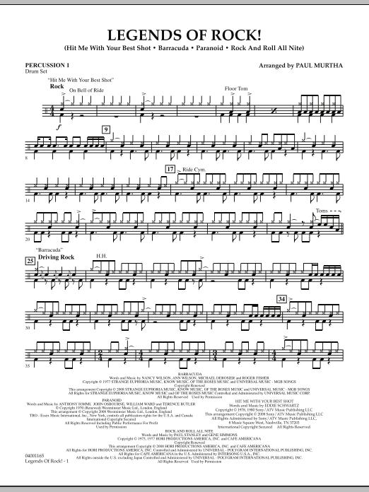 Legends Of Rock! - Percussion 1 (Concert Band)