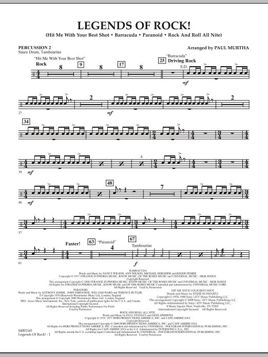 Legends Of Rock! - Percussion 2 (Concert Band)