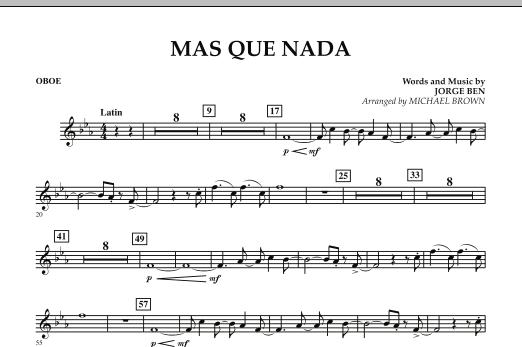 Mas Que Nada - Oboe (Concert Band)