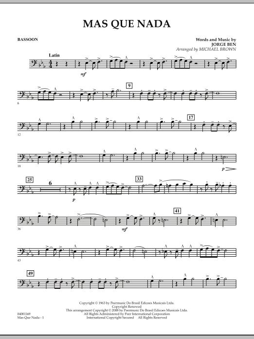 Mas Que Nada - Bassoon (Concert Band)