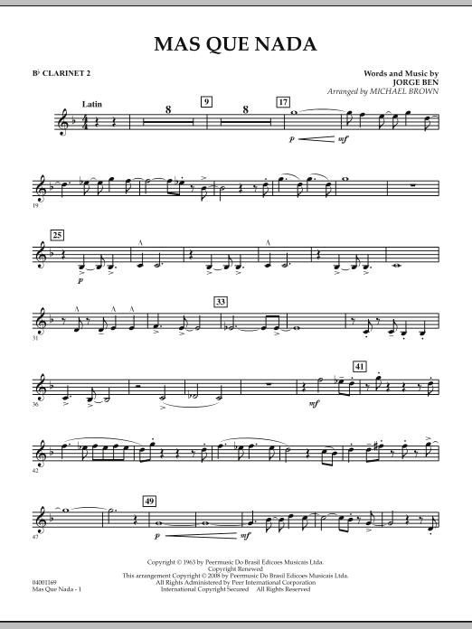 Mas Que Nada - Bb Clarinet 2 (Concert Band)