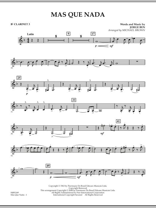 Mas Que Nada - Bb Clarinet 3 (Concert Band)