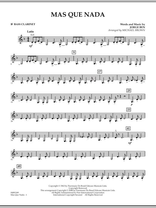 Mas Que Nada - Bb Bass Clarinet (Concert Band)