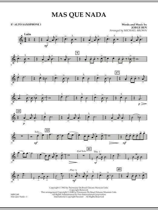 Mas Que Nada - Eb Alto Saxophone 1 (Concert Band)