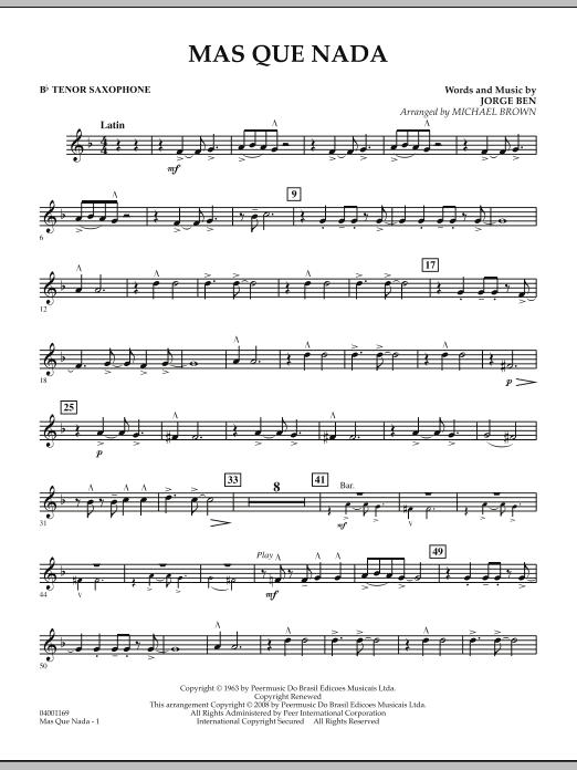 Mas Que Nada - Bb Tenor Saxophone (Concert Band)