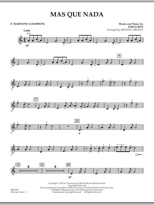 Mas Que Nada - Eb Baritone Saxophone (Concert Band)