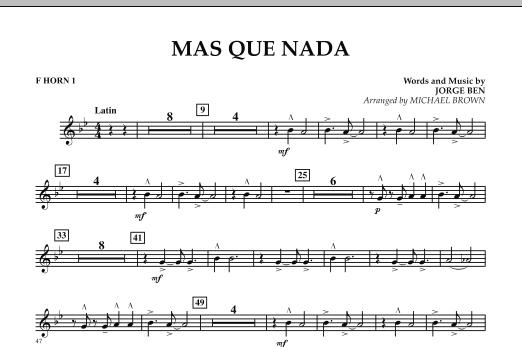 Mas Que Nada - F Horn 1 (Concert Band)