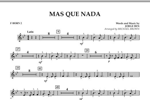 Mas Que Nada - F Horn 2 (Concert Band)