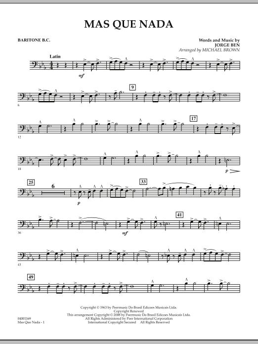 Mas Que Nada - Baritone B.C. (Concert Band)