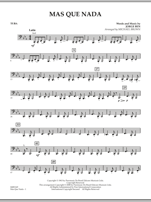 Mas Que Nada - Tuba (Concert Band)