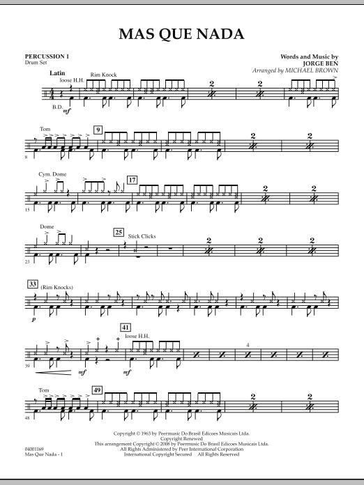 Mas Que Nada - Percussion 1 (Concert Band)