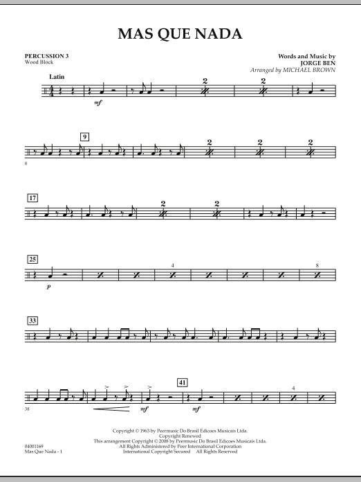 Mas Que Nada - Percussion 3 (Concert Band)