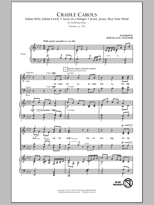 Cradle Carols (SATB Choir)