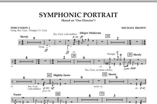 Symphonic Portrait (based on Our Director) - Percussion 2 (Concert Band)