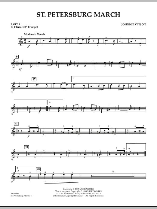 St. Petersburg March - Pt.1 - Bb Clarinet/Bb Trumpet (Concert Band: Flex-Band)