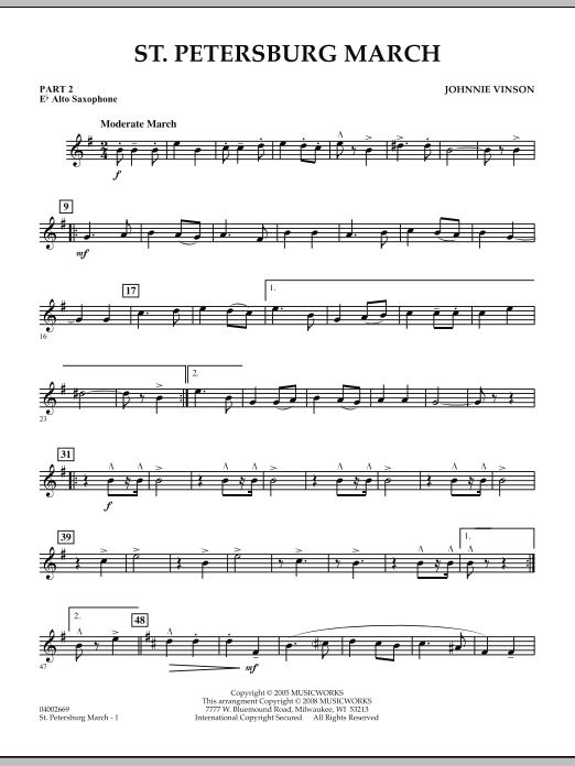 St. Petersburg March - Pt.2 - Eb Alto Saxophone (Concert Band: Flex-Band)