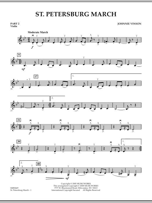 St. Petersburg March - Pt.2 - Violin (Concert Band: Flex-Band)