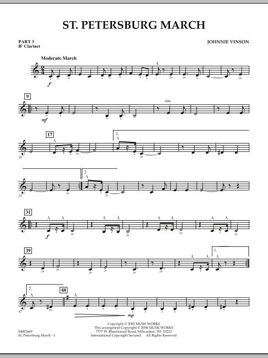 St. Petersburg March - Pt.3 - Bb Clarinet (Concert Band: Flex-Band)