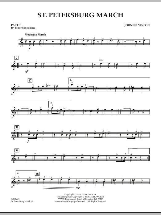 St. Petersburg March - Pt.3 - Bb Tenor Saxophone (Concert Band: Flex-Band)