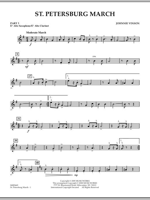 St. Petersburg March - Pt.3 - Eb Alto Sax/Alto Clar. (Concert Band: Flex-Band)