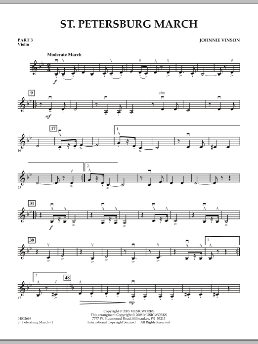 St. Petersburg March - Pt.3 - Violin (Concert Band: Flex-Band)