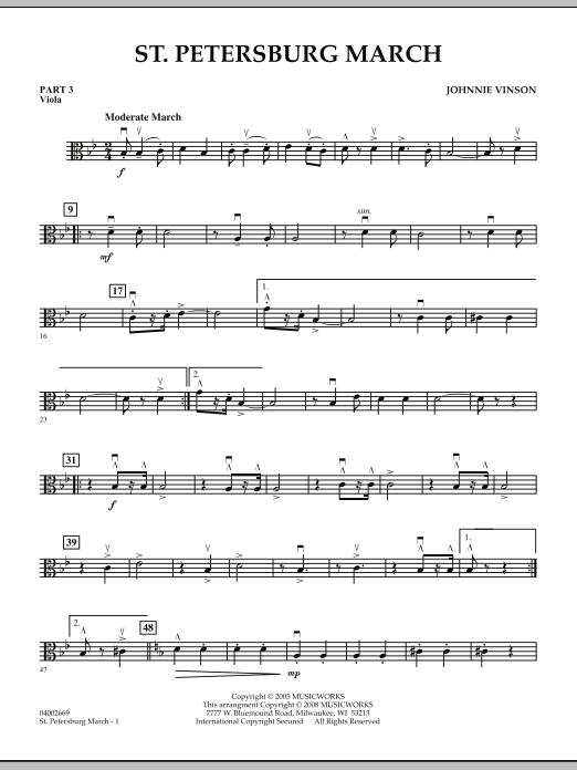 St. Petersburg March - Pt.3 - Viola (Concert Band: Flex-Band)