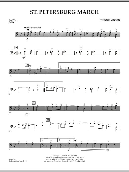 St. Petersburg March - Pt.4 - Cello (Concert Band: Flex-Band)