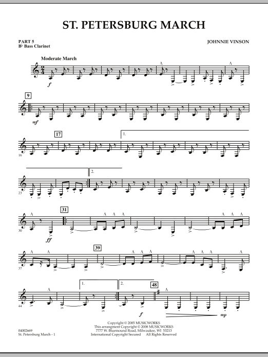St. Petersburg March - Pt.5 - Bb Bass Clarinet (Concert Band: Flex-Band)