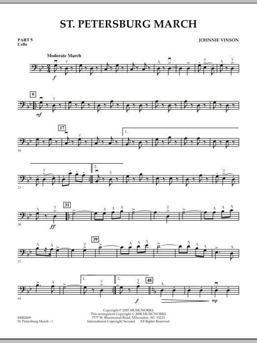 St. Petersburg March - Pt.5 - Cello (Concert Band: Flex-Band)