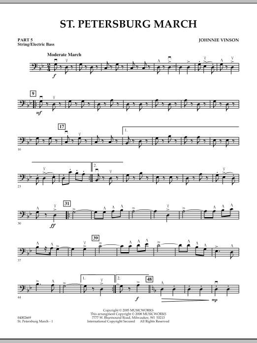 St. Petersburg March - Pt.5 - String/Electric Bass (Concert Band: Flex-Band)