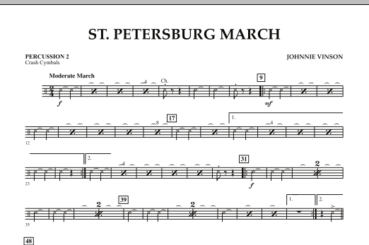 St. Petersburg March - Percussion 2 (Concert Band: Flex-Band)