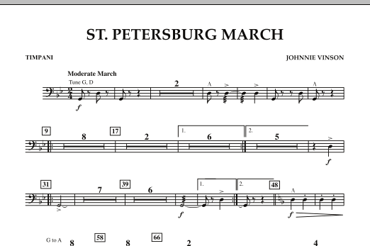 St. Petersburg March - Timpani (Concert Band: Flex-Band)