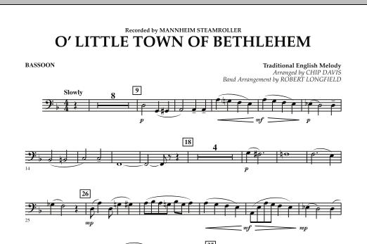 O Little Town Of Bethlehem - Bassoon (Concert Band)