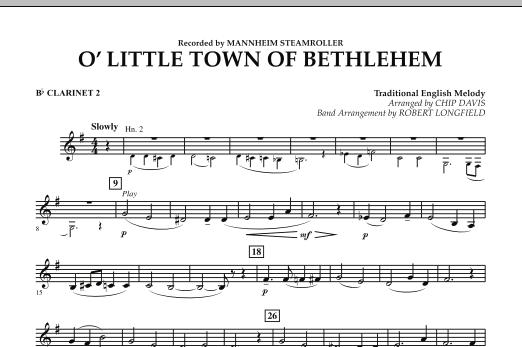 O Little Town Of Bethlehem - Bb Clarinet 2 (Concert Band)