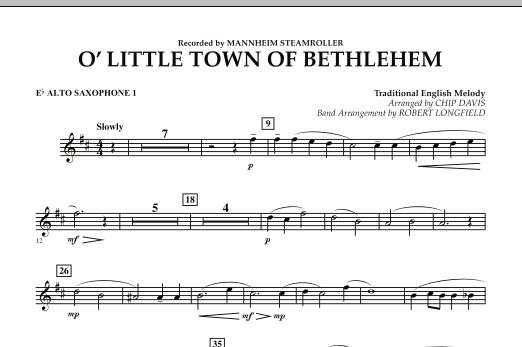 O Little Town Of Bethlehem - Eb Alto Saxophone 1 (Concert Band)