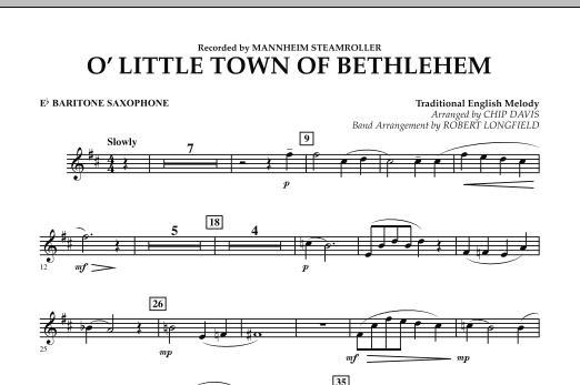 O Little Town Of Bethlehem - Eb Baritone Saxophone (Concert Band)