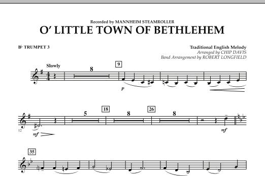 O Little Town Of Bethlehem - Bb Trumpet 3 (Concert Band)