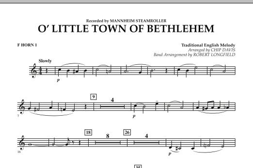 O Little Town Of Bethlehem - F Horn 1 (Concert Band)
