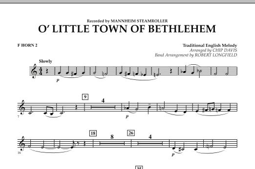 O Little Town Of Bethlehem - F Horn 2 (Concert Band)