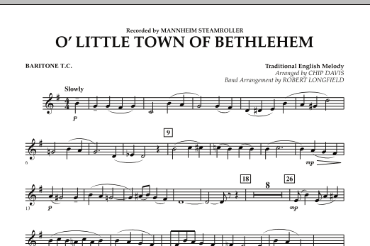 O Little Town Of Bethlehem - Baritone T.C. (Concert Band)