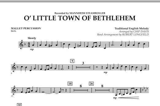 O Little Town Of Bethlehem - Mallet Percussion (Concert Band)