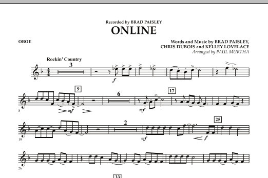 Online - Oboe (Concert Band)