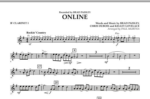 Online - Bb Clarinet 1 (Concert Band)
