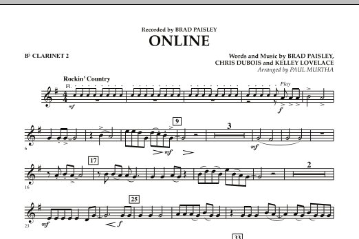 Online - Bb Clarinet 2 (Concert Band)