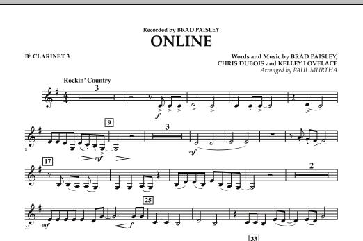 Online - Bb Clarinet 3 (Concert Band)