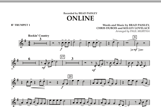 Online - Bb Trumpet 1 (Concert Band)