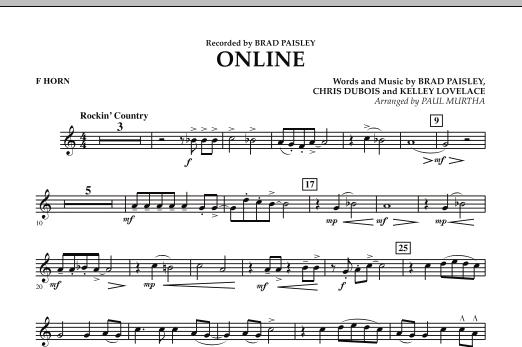 Online - F Horn (Concert Band)