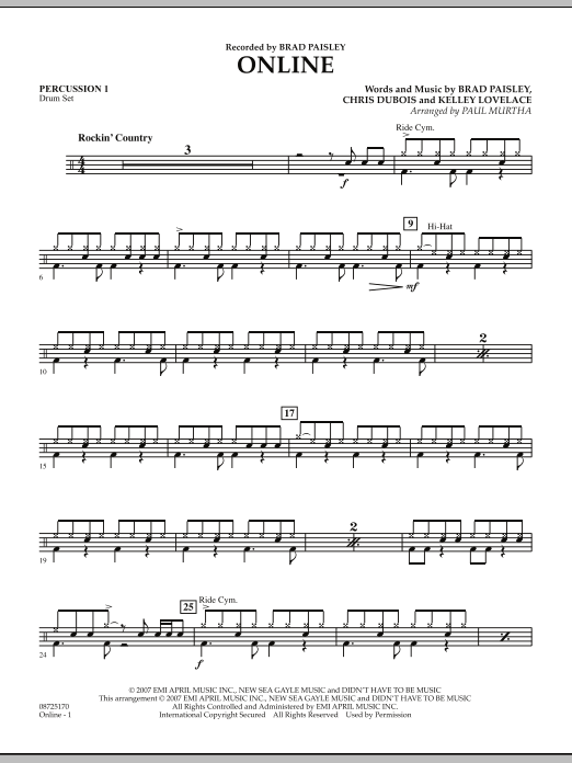 Online - Percussion 1 (Concert Band)