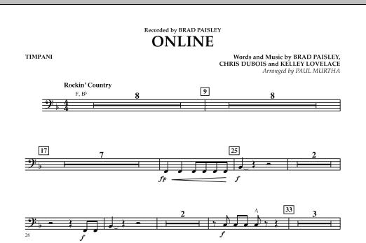 Online - Timpani (Concert Band)