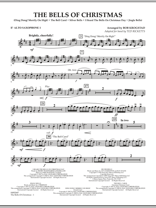 The Bells Of Christmas - Eb Alto Saxophone 1 (Concert Band)